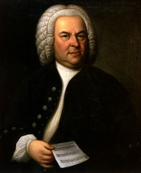 Original Bach Painting by Elias Gottlob Haussman
